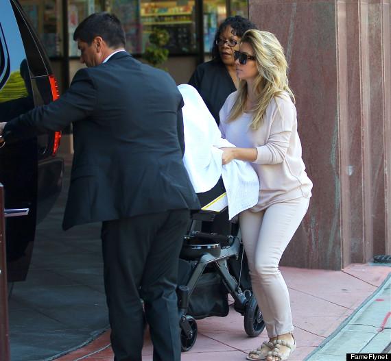 Semi-Exclusive... Kim Kardashian & Kanye Take North To The Doctor